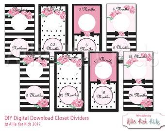 Nursery Closet Dividers, Kate Spade Inspired, Nursery Organization from Allie Kat Kids