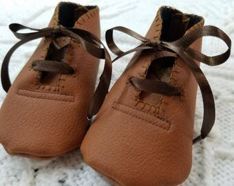 Leather-Like Baby Shoes