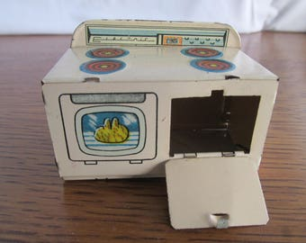 Vintage Tin Dollhouse Kitchen Stove