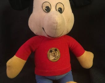 Vintage Mickey Mouse Well Loved Well Played with  Vintage Knickerbocker Plush Mickey Mouse Club Mouseketeers