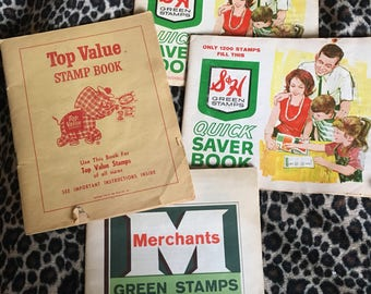1959 Green stamp and quick saver book lot