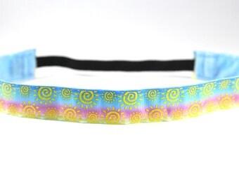 Glitter Sunshine Headband, Ombre Nonslip Headband, Gift for Runners, Fitness Headband, Running Headband, Ombre Headband, Summer Accessory