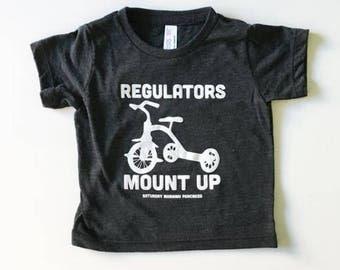 Funny Kids Graphic T-shirt Regulators Mount Up