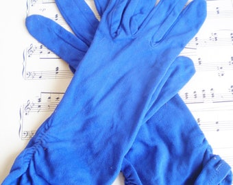Vintage Evening Gloves In Blue/Wedding Gloves/Something Blue/Tea Party/Shabby Chic Decor/Retro Style