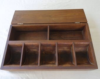 vintage general store cash register, Amish cash box, storage organizer or display prop, handmade antique cash drawer,