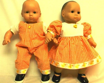 Matching Gingham Outfits For Dolls Like Bitty Baby Twins