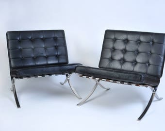 Mies Van Der Rohe Barcelona Chairs - Matched Pair