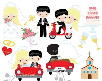 ON SALE INSTANT Download. Wedding clip art. Cwed_5. Personal and commercial use.