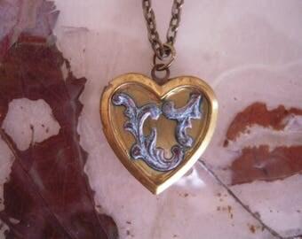 Locket heart Piero Moon