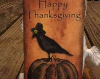 Thanksgiving Crow Hang Tag