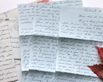 Set of 5 handwritten letters about 1970