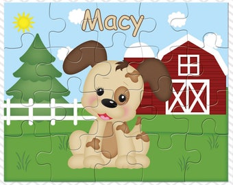 Dog Personalized Puzzle, Personalized Farm Puzzle, Personalized Kids Puzzle