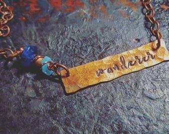 Wanderer Necklace; Traveler Jewelry