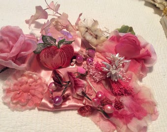 Simone's collection of vintage ribbons and millinery