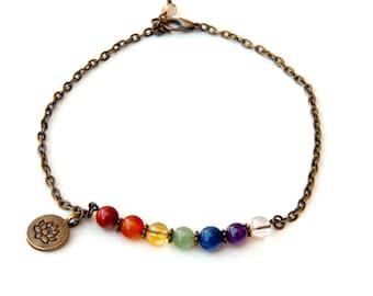 Chakra bracelet, yoga bracelet, meditation bracelet, 7 chakra bracelet, healing bracelet, chakra jewelry, gemstone bracelet, energy bracelet