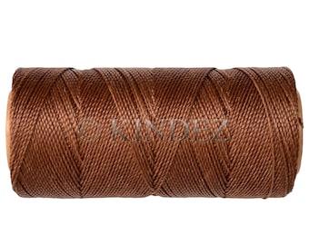Waxed Polyester Cord - 1 spool - Macrame Cord - Jewelry Cord - Bronze
