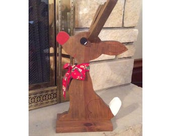 Carved reindeer -- decorative -- seasonal