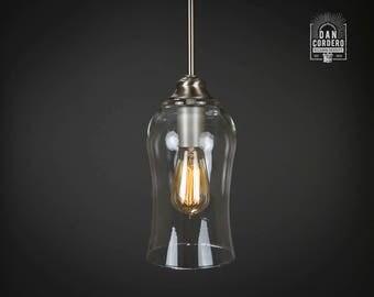 pendant light fixture edison bulb brushed nickel pendant kitchen light light - Brushed Nickel Pendant Light