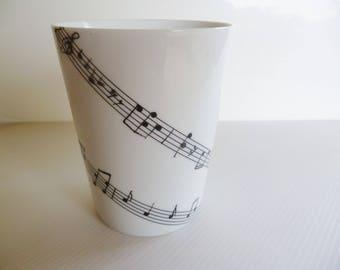 """Limoges porcelain """"music"""" mug"""