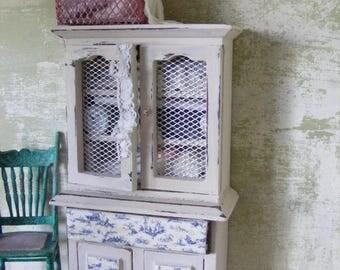 Haberdashery cabinet 12th scale miniature