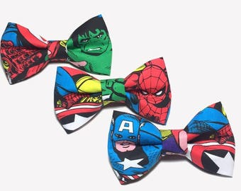 Avengers Boys, Boys Bow Tie, Baby Avengers, Avengers Groomsmen, Avengers Fabric, Boys Bowtie, Bow Ties For Men, Bow Ties for Boys, Bowties