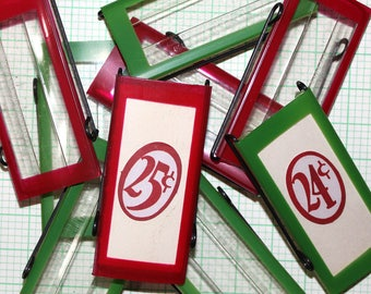 Vintage File Labels*Red and Green Vintage Office File Labels Christmas*Junk Journal Supply