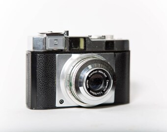 Tower Compur-Rapid 35mm Film Rangefinder Camera 1950s 50mm f/2.8 Original Leather Case