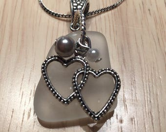 Seaglass Heart Necklace