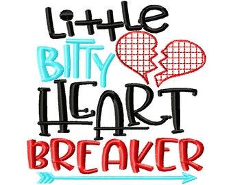 Little Bitty Heart Breaker - Boy Valentine Shirt - Valentines custom shirt
