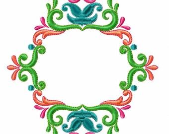 Floral Wreath Frame with Monogram - Custom Tee 9