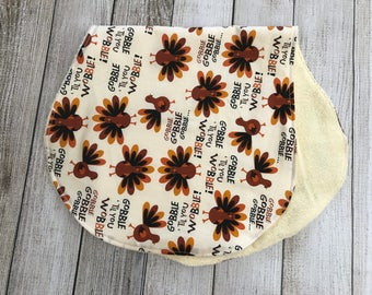 Thanksgiving Turkey Burp Cloth