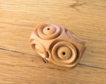 Large handmade wooden Dreadlock bead