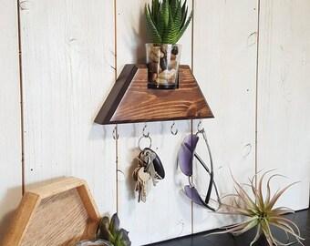 succulent key hook shelf plant key hooks key holder succulent key holder