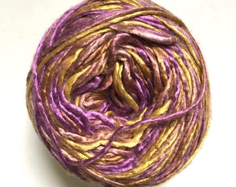 40% Off Artyarns Regal Silk Yarn Worsted DK Gold Purple 163 Yards