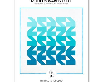 Modern Waves Quilt Pattern by Initial K Studio