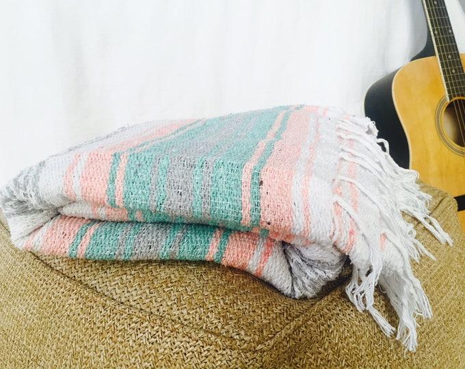 Spindrift Blanket/ Falsa Blanket / Falsa Blanket / Mexican Blanket Fabric / Throw Blankets / Mexican Blankets/ Textiles / Sea Gypsy Blanket