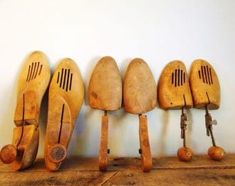 Wood Shoe Form Collection - 3 Pairs