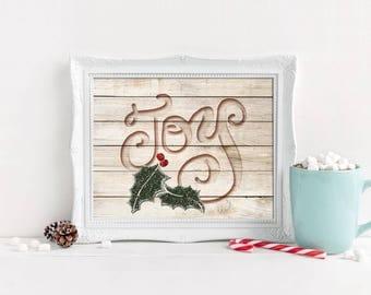 Christmas Digital Printables | Wood Carved | You Print At Home | Digital Prints | Digital Printables | Holiday Printables | Digital Download