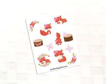 Foxy Ladies Deco Stickers, Fall Fox