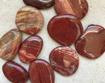 Red Banded Jasper Palm Stone