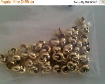 SAVE 20% 3mm 14k Gold Filled Crimp Covers (bag of 20) MADE IN Usa