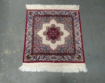 Persian Rug - 1960s Square Ravar Kerman Rug (3661)