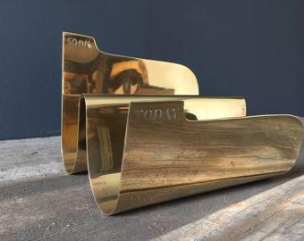 """Vintage Sarreid Brass Metal Mail/Letter Holder/Sorter """"Today Soon"""""""