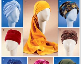 Fashion Chemo Cap/Turban Pattern in 7 Styles