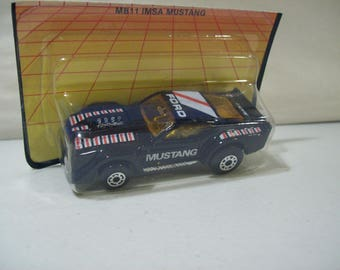 Vintage Matchbox Ford IMSA Mach 1 Mustang Die-Cast Car 1983, On Card Bottom, Sealed