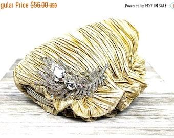 SALE SALE SALE Sale Gold Satin Bridal Clutch, Gold Crystal Bridal Clutch, Gold Satin Wedding Purse, Gold Crystal Evening Clutch P - 10