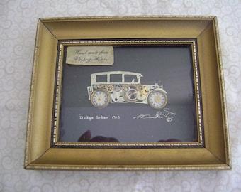 Vintage Broadbent Picture Hand Made Dodge Sedan 1915