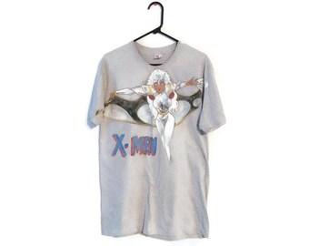 Vintage MARVEL'S X-Men t-shirt size M/L Storm hand painted Comic Book ooak