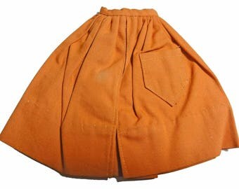 Vintage 1960s Barbie Orange Gathered Skirt Mix and Match Pak Original Barbie Clothes