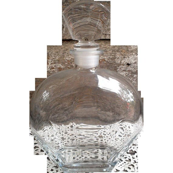 Vintage Clear Glass Decanter from Italy, Barware, Glassware, Entertaining, Party Glass Decanter